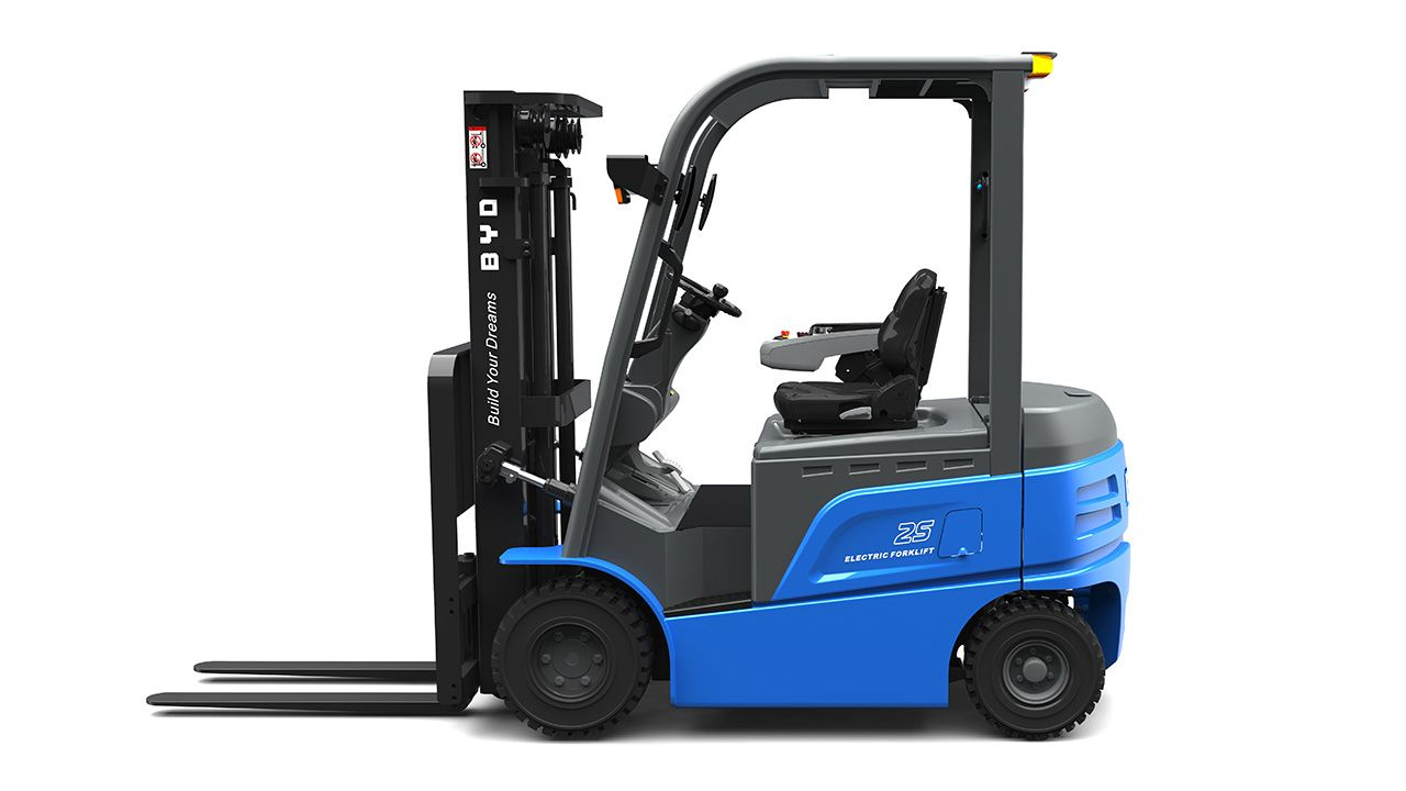 2018 byd electric forklift